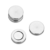 Stainless Steel Magnetic Stud Earring, Flat Round, original color, 10x6mm, Sold By Pair