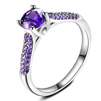 Cubic Zirconia Micro Pave Brass Finger Ring, real silver plated, with 925 logo & different size for choice & micro pave cubic zirconia & for woman, lead & cadmium free, 21x3mm, Sold By PC
