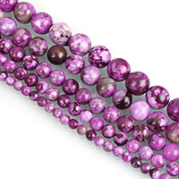 Dyed Jade Beads, Round, imitation sugilite & different size for choice, purple, Length:Approx 15.5 Inch, Sold By Strand