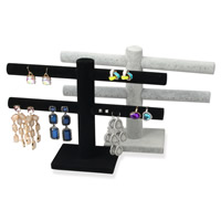 Velveteen Earring Display, with PVC Plastic, more colors for choice, 245x170mm, 15mm, 100x70mm, Sold By PC