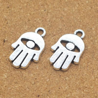 Zinc Alloy Hamsa Pendants, antique silver color plated, 12x19x2mm, Hole:Approx 1.5mm, Sold By PC