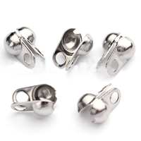 Stainless Steel Bead Tips, different size for choice, original color, Sold By PC