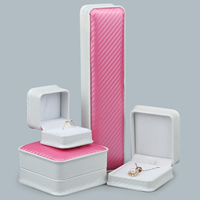 Leatherette Paper Jewelry Set Box, PU, with Glue Film, different styles for choice, Sold By PC