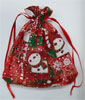 Organza Jewelry Pouches, Christmas jewelry, red, 13x18cm, Sold By PC