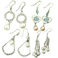 Rhinestone Freshwater Pearl Earring