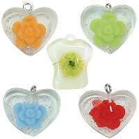 Inner Flower Resin Pendants
