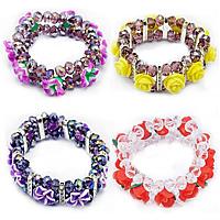 Polymer Clay Crystal Bracelets