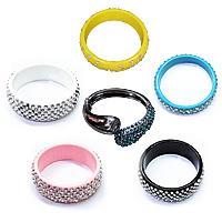 Rhinestone Resin Bracelets