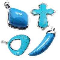Turquoise Stainless Steel Pendants