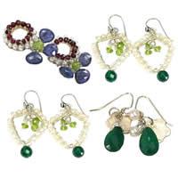 Crystal Freshwater Pearl Earring