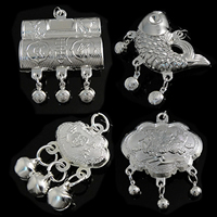 Zinc Alloy Bell Pendants