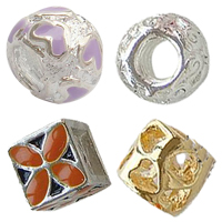 Enamel Zinc Alloy European Beads
