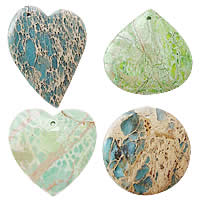 Impression Jasper Pendants