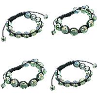 Glass Woven Ball Bracelets