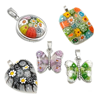 Italian Millefiori Glass Pendants