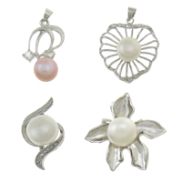 Cultured Freshwater Pearl Brass Pendant