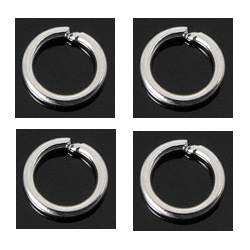 Machine Cut Sterling Silver Closed Jump Ring