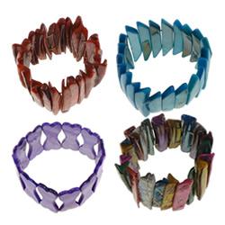 Dyed Shell Bracelet