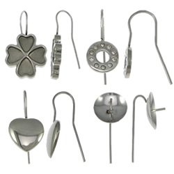 Stainless Steel Earring Drop Component