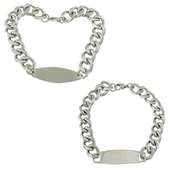 Stainless Steel ID Plate Bracelet