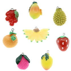 Imitation Fruit Resin Pendant