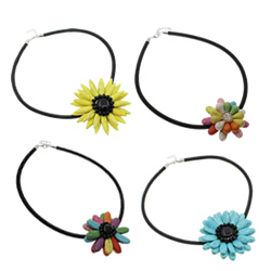 Turquoise Sun Flower Necklace