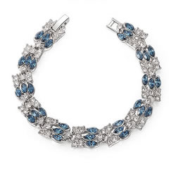 Cubic Zirconia Zinc Alloy Bracelet