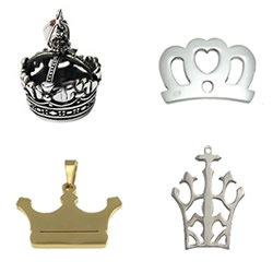 Stainless Steel Crown Pendant