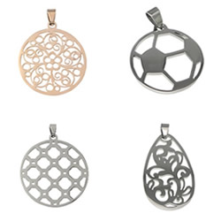 Stainless Steel Hollow Pendant