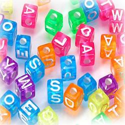 Acrylic Alphabet Beads