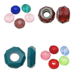 Resin Shell European Beads