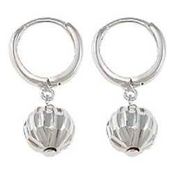 Sterling Silver Huggie Hoop Drop Earring