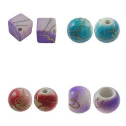 Imitation Porcelain Acrylic Beads