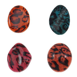 Black Spot Acrylic Beads