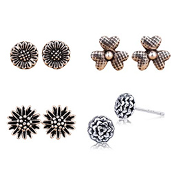 Thailand Sterling Silver Stud Earring