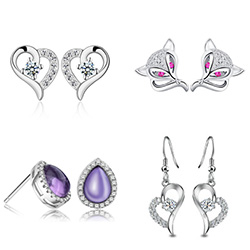 Cubic Zirconia Micro Pave Sterling Silver Earring