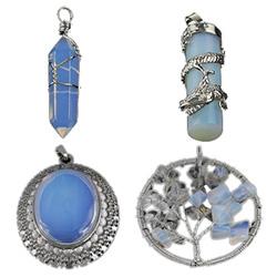 Sea Opal Pendants