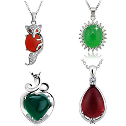 Agate Sterling Silver Pendants