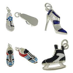 Sterling Silver Shoes Pendants