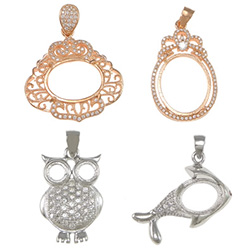 Sterling Silver Pendant Setting