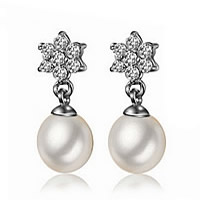 Sterling Silver Pearl Drop Earring