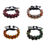 Agate Woven Ball Bracelets