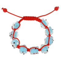 Lampwork Woven Ball Bracelets