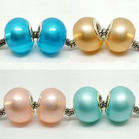 Glass Pearl European Beads