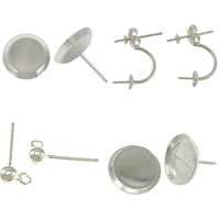 Sterling Silver Earring Stud Component