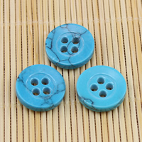 4 Hole Turquoise Button