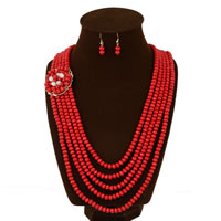 Natural Coral Jewelry Set