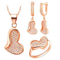 Cubic Zirconia Micro Pave Brass Jewelry Sets