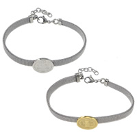 Stainless Steel Saint Bracelet