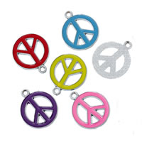Zinc Alloy Peace Pendants